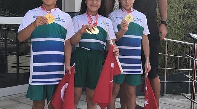 ÇESK'in sporcuları madalyaya doymuyor